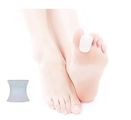 2x Silikon Soft-Gel Keil Zehenspreizer, Zehenrichter für Hallux Valgus Therapie, Schmerzlinderung und Entspannung der Füße, z
