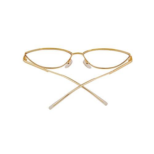 homme 1 avec Gold en frame lens Petites métal Clear lunettes pour ADEWU 2018 de monture soleil fRqZvR