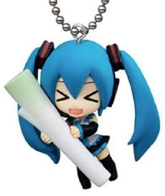 Negi Miku Hatsune Vocaloid Hatsune Miku Swing Keychian Mascot Figure Winter Edition ~1.5