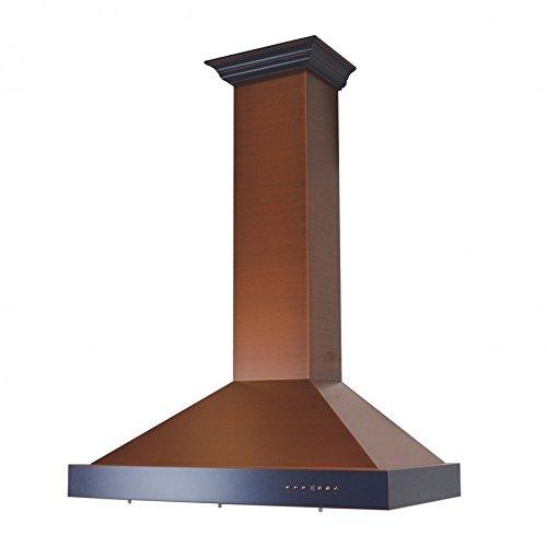 """Z Line KB2-CBXXX-36 36"""" 760 CFM Designer Series Wall Mount Range Hood, Copper -  ZLINE Kitchen and Bath"""