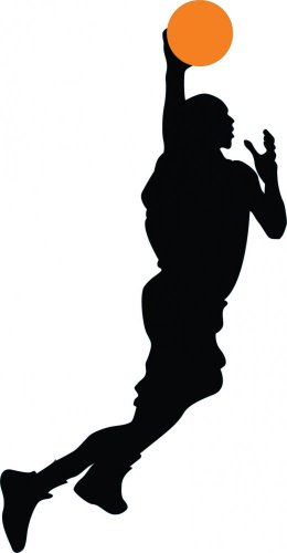 sports silhouette wall decals - 9