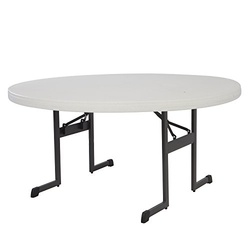 5' Round Bench (Lifetime Products 80252 Professional Round Folding Table, 5', Almond)