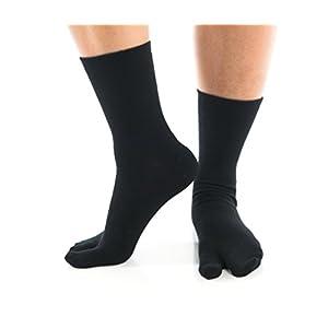 Black Crew V-Toe Flip Flop Tabi Socks
