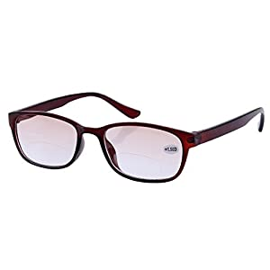 Southern Seas Tinted Brown +3.00 Reading Glasses Mens Womens with Line Bifocals Spectacles Eyewear