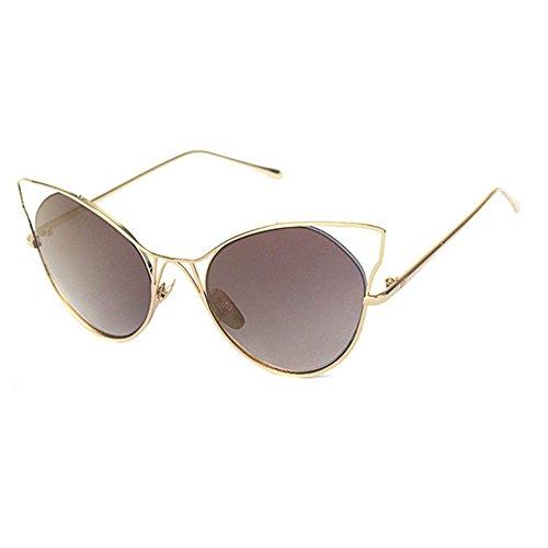Aoligei Lunettes de soleil fashion tendance lunettes de soleil rétro chat lunettes homme Dame ombre miroir ioYO7Z6x