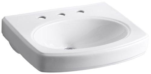 Vitreous China Shroud - KOHLER K-2028-8-0 Pinoir Bathroom Sink Basin with 8
