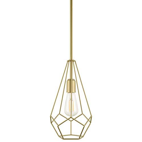 - Aliria Pendant Light | Brass Pendant Lighting for Kitchen Island with LED Bulb LL-P635-3JB