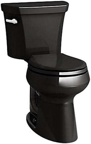 Kohler K-5481-7 Highline Comfort Height Toilet Black Black
