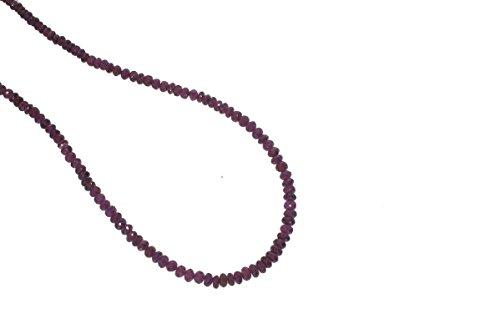 Rhodolite garnet Rondelle purple Gemstone Beads 4 to 5mm AA Necklace