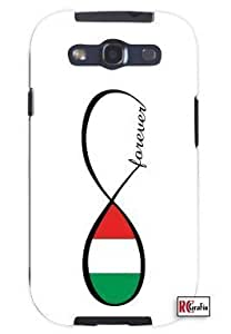Cool Painting Forever Italian National Infinity Country Flag Unique Quality Soft Rubber Case for Samsung Galaxy S4 I9500 - White Case