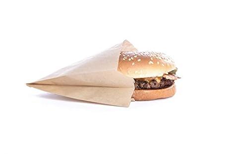 Natural Kraft - Bolsa de papel para hamburguesas resistente ...