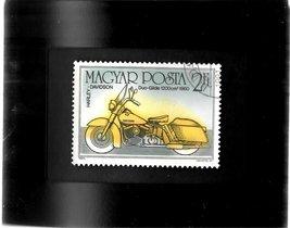 - Tchotchke Framed Stamp Art - Vintage Harley-Davidson Motorcycle