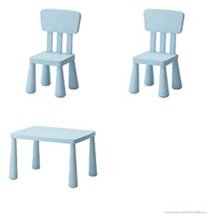 ikea 39 s mammut children 39 s table light blue and mammut children 39 s chair light blue. Black Bedroom Furniture Sets. Home Design Ideas