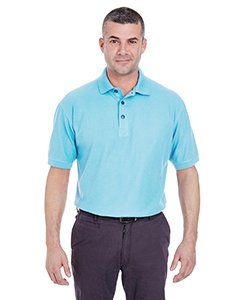 (UltraClub 8540 UC Men Whisper Pique Polo Baby Blue 4XL)