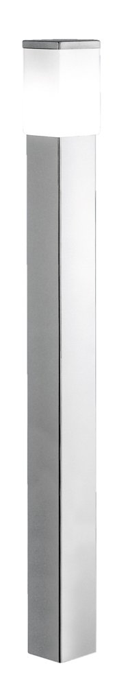 Eglo USA Calgary 1 x 60 Watt Outdoor Post Light with Stainless Steel Finish and Opal Frosted Glass