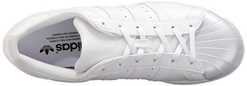 Adidas Originelen Dames Superstar Glanzende Neusw Fashion Sneaker Wit / Wit / Zwart