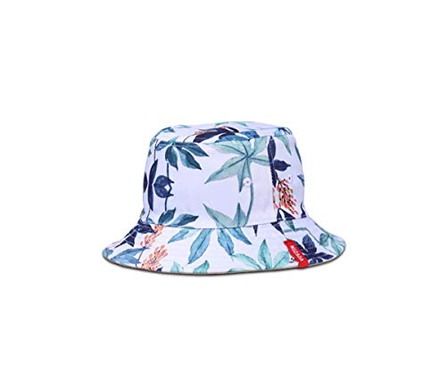 Riceei Men Women Summer Bucket Hats Unisex Visors Fisherman Caps Ladies 3D Floral Print Holiday Boho Beach Casual Sun Hat Outdoor Foldable Double-Sided Wear Cool Hip Hop Street Dance Boonie Cap