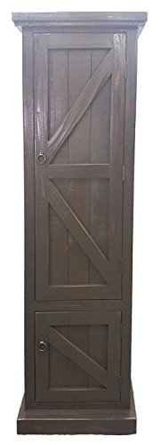 American Heartland #30789RGY Rustic Single Door Pantry, R...