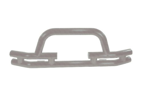 FRONT TUBE BUMPER WITH WINCH CUT OUT; TITANIUM; 76-06 JEEP CJ; WRANGLER/UNLIMITE (Outland Front Tube Bumper)