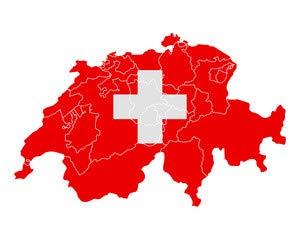 adrium Tarjeta y Bandera de Suiza (81866298), Póster, 60 x ...