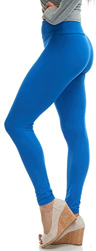 LMB Lush Moda Extra Soft Leggings - Variety of Colors - Yoga Waist - Royal Blue ()