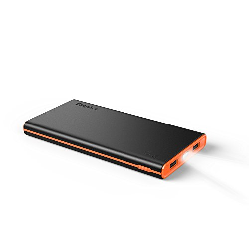EasyAcc Colorido 10000mAh (2 puertos USB) Cargador de Batería Externa Nueva Version 3.1A Salida Inteligente Power Bank Para Smartphones iPhone, iPad, Samsung, Tableta y Altavoz Bluetooth