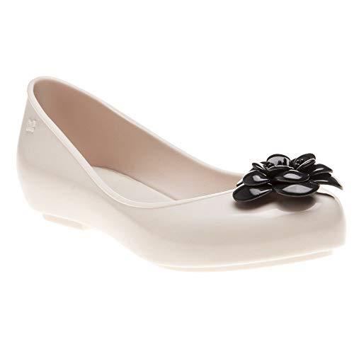 Plastic Charm Contrast 8 Size 8 Flower 21 Ivory Zaxy ivory Flat Women's Pop On Slip wEqnIpzx