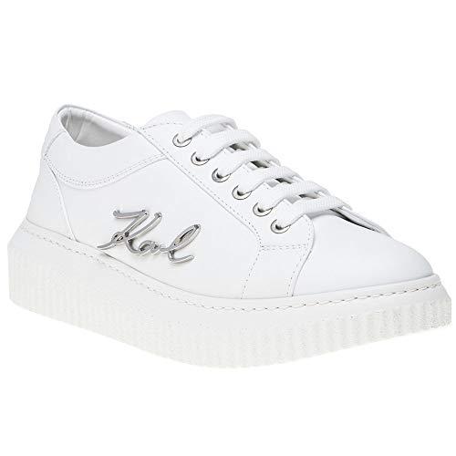 Karl Lagerfeld Damen Sneaker Weiß Lo Kreeper nUxYqw0rU
