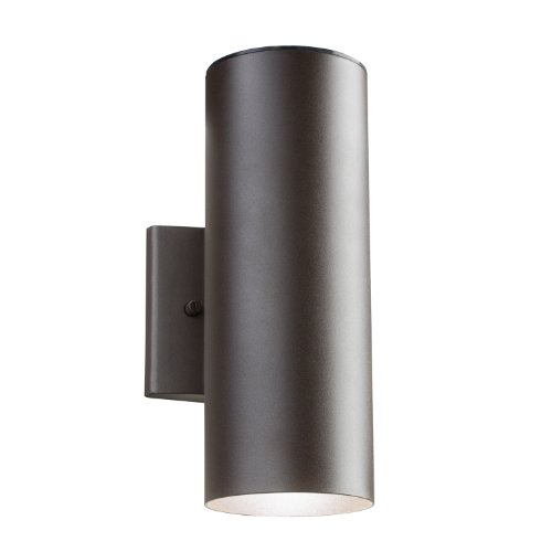 (Kichler  11251AZT Outdoor 11.23W 12-Inch LED Wall Mount, Textured Architectural Bronze Finish)