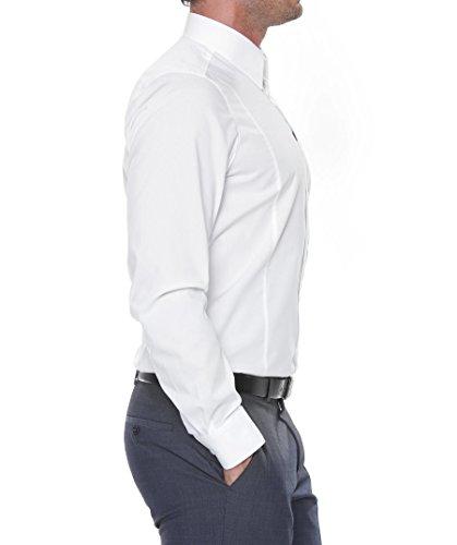 Camicia a maniche lunghe Level 5 Body Fit, da uomo bianco 01 wei