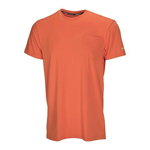 (アークティッククール) Arctic Cool メンズ ポケットワークウェア 即冷却シャツ UPF 50+紫外線保護 B01MSBKB3U L|オレンジ オレンジ L