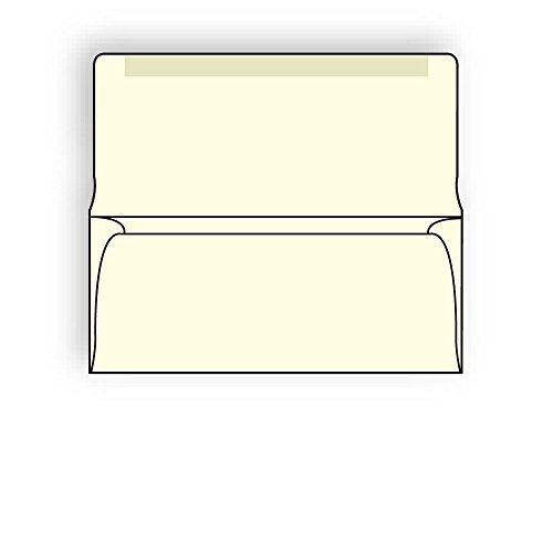 #9 Collection/Remittance Envelopes, 3-7/8'' x 8-7/8'' 24# Recycled Creme Pastel, Open Side, Flaps Extended (Box of 500) by The Envelope Supplies Shop