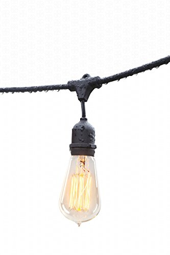 Outdoor String Lights By Deneve : Deneve Outdoor String Lights (48ft) with Edison Bulbs - Heavy - Import It All