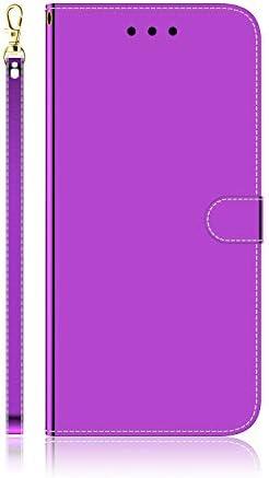 Docrax iPhone 7 Plus/iPhone 8 Plus ケース 手帳型 スタンド機能 財布型 カードポケット マグネット アイフォン7Plus / 8Plus 手帳型ケース レザーケース カバー - DOTXI170031 紫