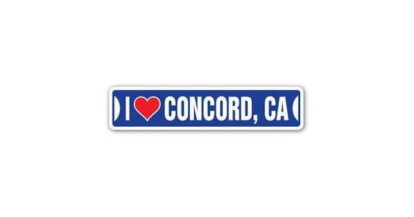 Amazon.com: 3 Pack: I LOVE CONCORD, CALIFORNIA Custom Street ...