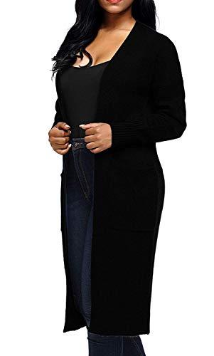Tasche Grazioso Libero Autunno Relaxed Giacca Primaverile Lunghi Con Khaki Donna Maniche Lunghe Elegante Tempo A Monocromo Maglia Moda Pullover Outwear Stlie Cappotto Comodo A7wqRwY