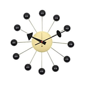 george nelson clock vitra sunflower reproduction ball handmade antique retro wooden wall designed