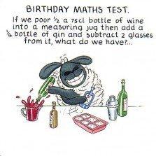 Humorous birthday card plk0061 the funny farm birthday maths humorous birthday card plk0061 the funny farm birthday maths test voltagebd Images