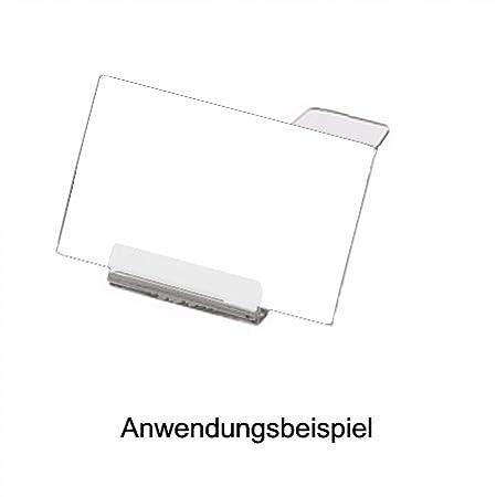 40 St/ück Preisschildhalter Acryl liegend L/änge 70 mm