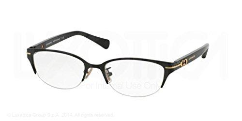 Coach Jackie Eyeglasses HC5058 9199 Satin Dark Brown/Dark Tortoise 49 17 - Glasses Reading Coach