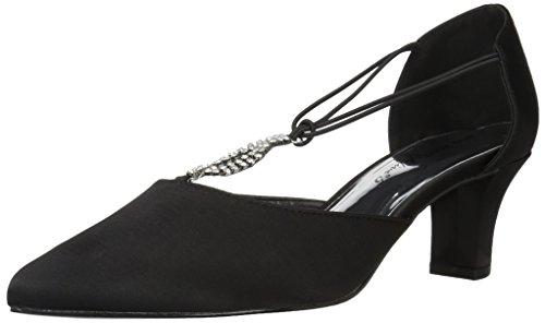 Black satin Easy leather Women's Street sole Moonlight Dress w SvpvIq