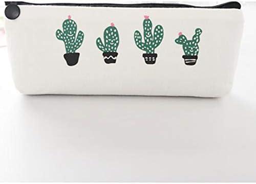 Silverdrew Estuche de lápices de Gran Capacidad Cactus Estuche de lápices con Cremallera para Estudiantes Material de Oficina Escolar Papelería de Regalo: Amazon.es: Jardín
