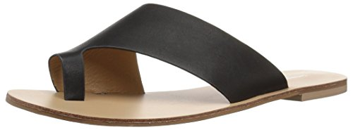 Chinese Laundry Women's Glory Flat Sandal, Black Smooth, 8 M US