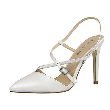 Silver Summer Women's Black UK3 CN35 5 EU36 Stiletto Heel PU White Casual US5 Golden Champagne 5 wa4wf1