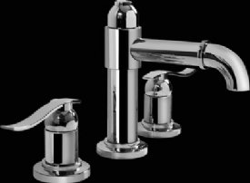 Graff Widespread Lavatory Faucet G-2110-LM20L-SN Satin Nickel