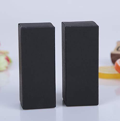 XLPD 50Pcs 10Ml/20Ml/30Ml/50Ml/100Ml White Black Kraft Paper Packaging Box Dropper Bottle Cosmetics Party Gift Cardboard Boxes Tubes Black 3.6x3.6x9cm 30ml