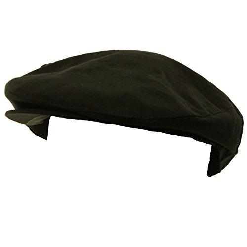 Men's Summer Front Snap Solid Flat Golf Ivy Driver Cabby Cap Hat Black