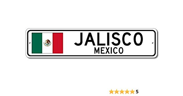 YOUR NAME Mexican Flag Personalized Shield Metal Sign Mexico 211110008001