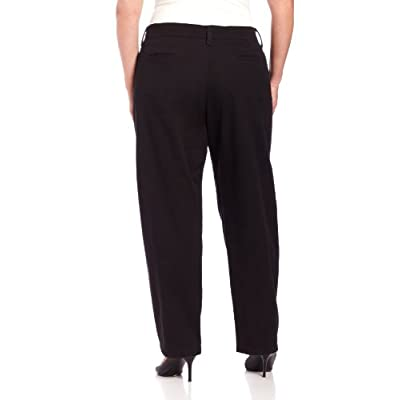 LEE Women's Plus Size Relaxed Fit Plain Front Straight-Leg Pant at Women's Clothing store