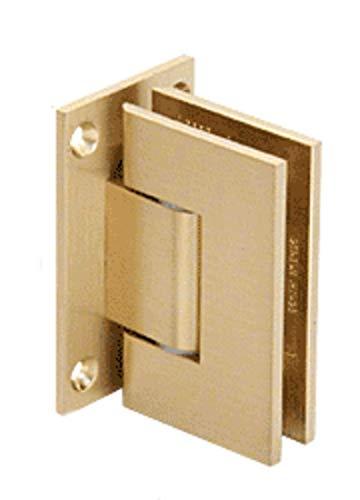 C.R. LAURENCE GEN337SB CRL Satin Brass Geneva 337 Series Adjustable Wall Mount Full Back Plate Hinge